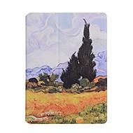 halpa -Etui Käyttötarkoitus Apple iPad 4/3/2 Korttikotelo Origami Suojakuori Scenery Kova PU-nahka varten iPad 4/3/2 Apple