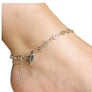 billiga -Ankelkedja - Hjärta damer, Kärlek Smycken Silver Till Dagligen Dam