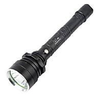 LED taskulamput LED 160-280Lm lm 4.0 Tila Cree Q5 Akulla ja laturilla Zoomable Vedenkestävä Erityiskevyet Telttailu/Retkely/Luolailu