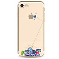 Недорогие Кейсы для iPhone 8 Plus-Кейс для Назначение Apple iPhone X iPhone 8 iPhone 6 iPhone 7 Plus iPhone 7 Ультратонкий С узором Кейс на заднюю панель Панк Мягкий ТПУ
