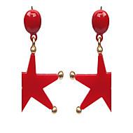 billige -Dame Stangøreringe - Stjerne Erklæring, Damer, Mode Smykker Hvid / Sort / Rød Til Bryllup Afslappet