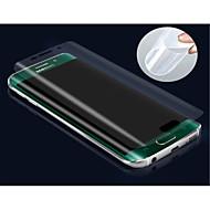 olcso Samsung képernyővédők-Képernyővédő fólia Samsung Galaxy mert S6 edge PET Kijelzővédő fólia Anti-ujjlenyomat