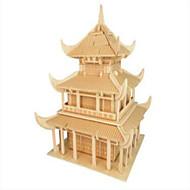 puslespil Træpuslespil Byggesten DIY legetøj Berømt bygning Kinesisk arkitektur 1 Træ Krystal Model- og byggelegetøj