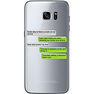 Недорогие Чехлы и кейсы для Galaxy S6 Edge Plus-Кейс для Назначение SSamsung Galaxy S7 edge S7 Ультратонкий Прозрачный С узором Кейс на заднюю панель Слова / выражения Мягкий ТПУ для S7