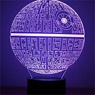 1Pcs   The Force Awakens Multi-Colored Death Star Table Lamp 3D Death Star Bulbing Light For Star Wars Fans