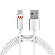 billige -USB 2.0 Mikro USB 2.0 Magnet Kabel Til Samsung Huawei Sony Nokia HTC Motorola LG Lenovo Xiaomi 150 cm PVC Aluminium