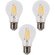 E26/E27 LED Filament Bulbs A60(A19) 4 leds COB Dimmable Warm White 400lm 2700K AC 220-240 110-120V