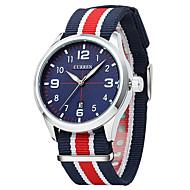 abordables 30% de DESCUENTO y Más-Hombre Reloj Deportivo / Reloj de Moda / Reloj de Vestir Calendario / Esfera Grande Tejido Banda Lujo / Vintage / Casual Múltiples Colores