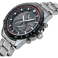 Недорогие Фирменные часы-CURREN Муж. Спортивные часы Модные часы Нарядные часы Кварцевый 30 m Защита от влаги Календарь Светящийся сплав Группа Аналого-цифровые Роскошь На каждый день Разноцветный - Белый Черный / Два года