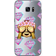 お買い得  Samsung 用 ケース/カバー-ケース 用途 Samsung Galaxy S7 edge / S7 超薄型 / クリア / パターン バックカバー カートゥン ソフト TPU のために S7 edge / S7 / S6 edge plus