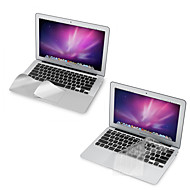 "billige Skærmbeskyttelse til Mac-ultra tynde TPU tastatur cover + metal hvile beskyttende film og touch-panel membran til 11,6 ""/13.3"" macbook air"