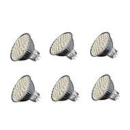 6szt 4W 240 lm GU5.3 Żarówki punktowe LED MR16 60 Diody lED SMD 3528 Ciepła biel Zimna biel 3000-3200/6000-6500