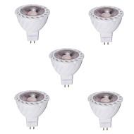 お買い得  LED スポットライト-5個 4W 400-500lm GU5.3(MR16) LEDスポットライト MR16 1 LEDビーズ COB 装飾用 温白色 クールホワイト 12V