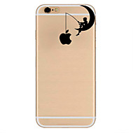 Pouzdro Uyumluluk Apple iPhone 7 / iPhone 7 Plus / iPhone 6 Ultra İnce / Temalı Arka Kapak Oynanan Apple Logosu Yumuşak TPU için iPhone 7 Plus / iPhone 7 / iPhone 6s Plus