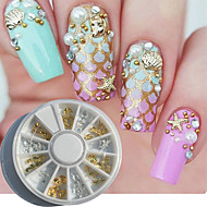 billige Sminke og neglepleje-1 pcs Nail Art Kit Negle kunst Manicure Pedicure Daglig Metallic / Mode