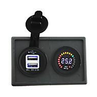 Χαμηλού Κόστους Φορτιστές Αυτοκινήτου-24v οδήγησε ψηφιακό βολτόμετρο οθόνη και 3.1α προσαρμογέα USB με πάνελ κάτοχος στέγασης για το σκάφος του αυτοκινήτου κατασκήνωση φορτηγό