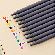 お買い得  文房具-ジェルペン ペン 水の色のペン ペン, プラスチック レッド ブラック ブルー イエロー パープル オレンジ グリーン インク色 For 学用品 事務用品 のパック