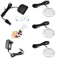 お買い得  -ONDENN 600lm 12 LED リモコン 調光可能 取り付けやすい 接続可 装飾用 リモコン操作 キャビネット用ライト 温白色 クールホワイト AC85-265