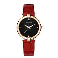 SANDA Женские Нарядные часы Модные часы Наручные часы Защита от влаги Кварцевый Японский кварц Кожа Группа Блестящие С подвескамиЧерный