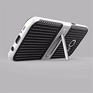 Недорогие Чехлы и кейсы для Galaxy S7 Edge-Кейс для Назначение SSamsung Galaxy S8 Plus / S8 со стендом Кейс на заднюю панель Однотонный Твердый Углеродное волокно для S8 Plus / S8 / S7 edge