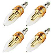 E14 LED Λάμπες Κεριά C37 32 SMD 3014 250 lm Θερμό Λευκό 3000 κ Διακοσμητικό AC 220-240 AC 100-240 V