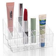 お買い得  浴室用小物-バスルームガジェットアクリル化粧溜めアクリル透明24格子14.5 * 9.5 * 7.5化粧品収納トイレプラスチック多機能