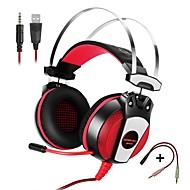 billige -KOTION EACH GS500 Over øre Pannebånd Med ledning Hodetelefoner Piezoelektricitet Plast Mobiltelefon øretelefon Med volumkontroll Med