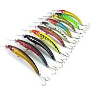 お買い得  -10 pcs ルアー ハードベイト ミノウ 硬質プラスチック シンキング 海釣り ベイトキャスティング スピニング / ジギング / 川釣り / バス釣り / ルアー釣り / 一般的な釣り