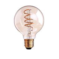 4W B22 E26/E27 LED Λάμπες Πυράκτωσης G80 1 leds COB Με ροοστάτη Θερμό Λευκό 400lm 2700-3500K AC 220-240 AC 110-130V