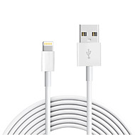 Lightning USB 2.0 Ledning Ladingskabel Fletted ladingskabel Data og synkronisering Normal Kabel Til Apple iPhone iPad 300 cm TPE