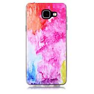 Недорогие Чехлы и кейсы для Galaxy A7(2016)-Кейс для Назначение SSamsung Galaxy A5(2017) A3(2017) Прозрачный С узором Кейс на заднюю панель Градиент цвета Мягкий ТПУ для A3 (2017)