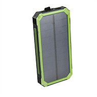 baratos Acessórios Universais para iPhone-banco do poder de bateria externa 5V 2.0A #A Carregador de bateria Prova-de-Água Lanterna Output Múltiplo Recarga com Energia Solar