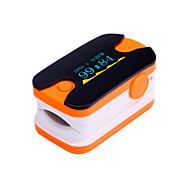 Недорогие Кровяное давление-Цифровой кончик пальца пульсоксиметр OLED-дисплей монитор сердечного ритма синий и оранжевый