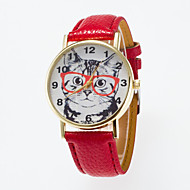 Mujer Reloj Deportivo Reloj de Vestir Reloj de Moda Reloj de Pulsera Cuarzo Cuero Auténtico Banda Encanto Casual Múltiples Colores