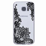 Недорогие Чехлы и кейсы для Galaxy S7-Кейс для Назначение SSamsung Galaxy S7 edge S7 Ультратонкий С узором Кейс на заднюю панель Геометрический рисунок Мягкий ТПУ для S7 edge
