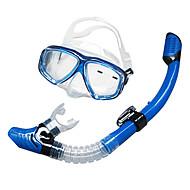 ダイビングマスク シュノーケル用具セット スノーケル スイミングゴーグル シュノーケルマスク ドライシュノーケル ダイビング&シュノーケリング ガラス シリコーン-SBART