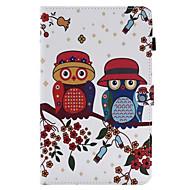 Til Etuier Covere Kortholder med stativ Flipp Heldekkende Etui Ugle Hard Kunstlær til Apple iPad Air 2 iPad Air