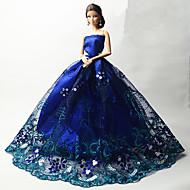 abordables Muñecas y Peluches-Fiesta/Noche Vestidos por Muñeca Barbie  Tela de Encaje Organdí Vestido por Chica de muñeca de juguete