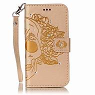 Кейс для Назначение SSamsung Galaxy J7 (2016) J5 (2016) Кошелек Бумажник для карт Стразы Флип Рельефный Чехол Черепа Твердый