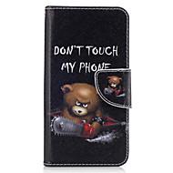 preiswerte Handyhüllen-Hülle Für Samsung Galaxy J5 (2016) J3 (2016) Kreditkartenfächer Geldbeutel mit Halterung Flipbare Hülle Ganzkörper-Gehäuse Tier Hart