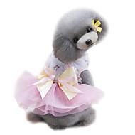 halpa -Koira Smokki Hameet Koiran vaatteet Prinsessa Vihreä Pinkki Vaalean sininen Sifonki Asu Lemmikit Naisten Muoti Häät