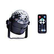 お買い得  -U'King LEDステージライト パータブル 取り付けやすい リモコン操作 音検知 グリーン ブルー レッド