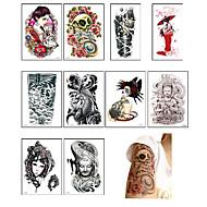 10 Tatuajes Adhesivos Otros Non ToxicBebé Niños Mujer Hombre Juventud flash de tatuaje Los tatuajes temporales