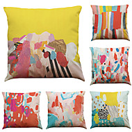 """sarja 6 värikäs graffiti kuvio liinavaatteet koti toimisto sohva neliö koriste tyynyliinat (18 """"* 18"""")"""