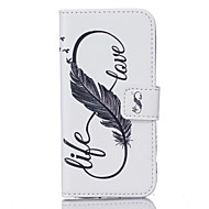 billige Etuier/deksler til Samsung-Etui Til Samsung Galaxy S7 edge S7 Kortholder Lommebok Mønster Heldekkende etui Fjær Hard PU Leather til S7 edge S7 S6 edge plus S6 edge