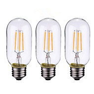 4W B22 E26/E27 LED Filament Bulbs 4 leds COB Dimmable Warm White 500-600lm 2700-3500K AC 220-240 AC 110-130V