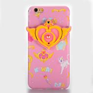 Mert IMD Tükör DIY Case Hátlap Case 3D rajz Puha TPU mert Apple iPhone 7 Plus iPhone 7 iPhone 6s Plus iPhone 6 Plus iPhone 6s iPhone 6