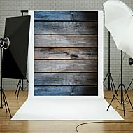 5x7ft studio fond photographie bois plancher mural props thème panneau bleu nouveau