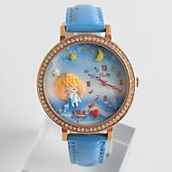 tanie Modne zegarki-Damskie Modny Kwarcowy / Silikon Pasmo Kreskówka Na co dzień Czarny Biały Niebieski Różowy Purpurowy GranatowyBlack Purple Fuchsia