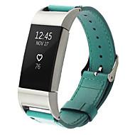 Недорогие Аксессуары для смарт-часов-Ремешок для часов для Fitbit Charge 2 Fitbit Кожаный ремешок Металл Кожа Повязка на запястье